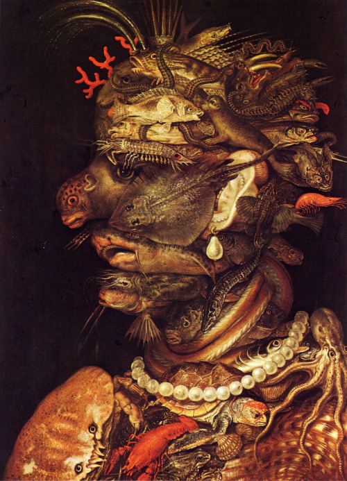 "argotspeak:  ""Water"", by Giuseppe Arcimboldo. Painted in 1566!"