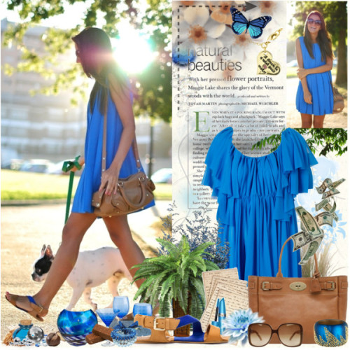 natural beauties by campe-lala featuring zara shoesCape dress, $160Zara shoes, $9.99Mulberry genuine leather handbag, $1,000Hinged bracelet, $495Beaded jewelry, 20 AUDDisney Couture fish hook necklace, $31Gucci shades, £120Waterford Cobalt Rush Votive, $70Pier 1 Imports - Blue Optic Glassware, $7Voortman Cookies Limited Chocolate Coated Vanilla Sugar Wafers - 15 Lb…, $51Preserved Caspia - TheFlowerMart.com — Shopping Cart Basket, $5