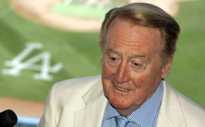 "latimes:  Like baseball's purity, Vin Scully never gets old: Anyone who thinks the Dodgers' legendary play-by-play man has 'lost it' really ought to just get lost. Or simply listen to Scully enthrall listeners while losing himself in the beauty of the game. Photo: Legendary broadcaster Vin Scully, shown in August 2010, is continuing his ""love affair"" with baseball in the Dodgers' booth this season. Credit: Gary Friedman / Los Angeles Times  I am thankful for my memories of driving in the car with my Dad while we listened to Vin Scully give the play-by-play for the Dodgers."