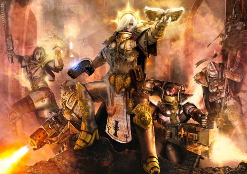 theemperorwatches:  Adepta Sororitas from the Order of the Sacred Rose .