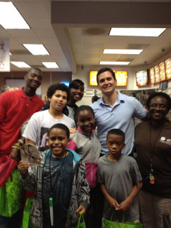Chick-fil-a%20Night on Flickr.A group of Boys & Girls Club members joined in the book drive fun April 5, 2012 and donated books. As with all other donors that week, Chick-Fil-A gave a free sandwich to each person who donated four or more books.