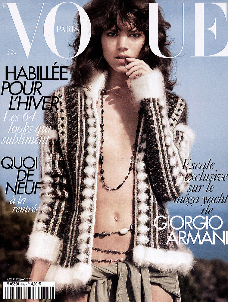 Freja Beha Erichsen/Vogue Paris August 2010