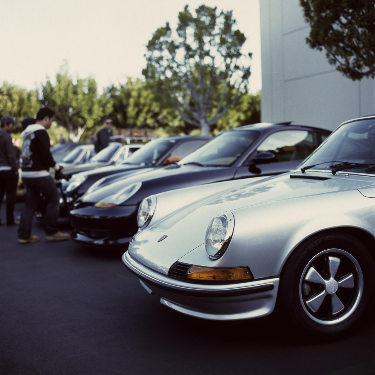 Porsche 911 Taken at Cars and Coffee Irvine with a Hasselblad 500CM on Fuji Provia 400X. Stephen Poon Photography