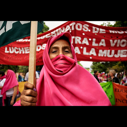 women in action by © Tatiana Cardeal on Flickr.#Caracas Mujer