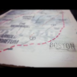 Map of boston neighborhood, #jp #art #design  (Taken with instagram)
