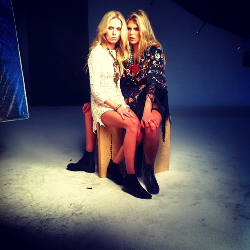 Alexandra & Theodora Richards at #dannijo #fw12 shoot @DANNIJO  (Taken with instagram)