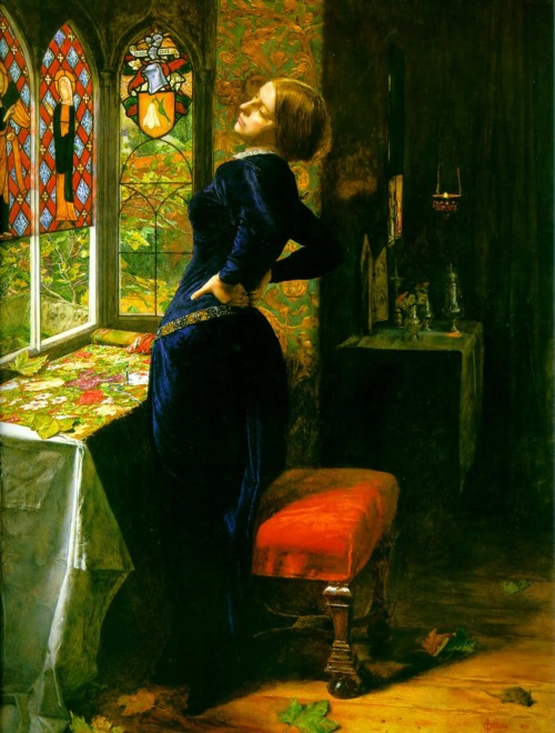 Millais, Mariana in the Moated Grange (1851), oil on panel