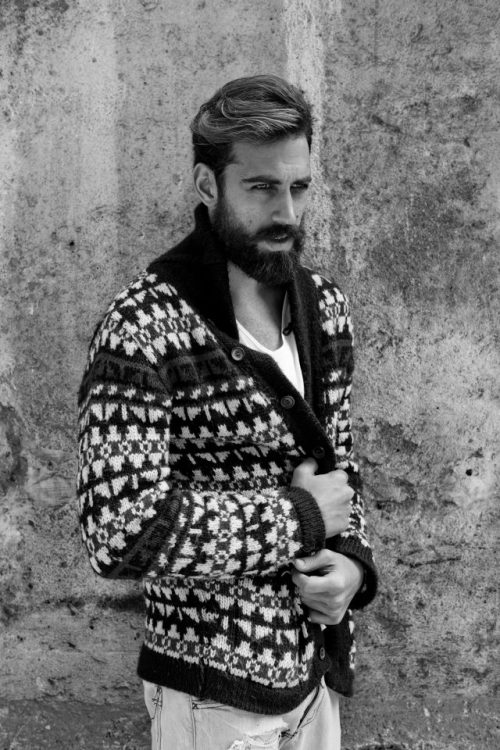 beardedmeninknittedthings:  beardedmalemodels:  Ilias Petrakis with Agencia, Athens.   yes please