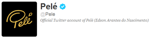 Follow Pelé on twitter