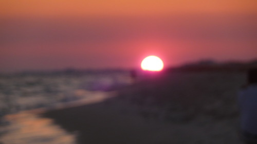 The sunset on the beach!