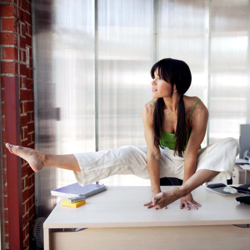 "Question… does anyone actually do the ""at your desk"" workouts, or the ""while you're waiting for the subway"" workouts? I've seen a couple lately, and maybe I'm as vain as a guy named Dane standing in the rain in Spain, but I would never. Imagine standing next to some one on the T platform when they suddenly bust out a set of squats? I would die, then I would wake up and take a photo and post it on Tumblr with the title ""You guys, you'll never believe what the nut job next to me was doing today…"" But that is probably just me."