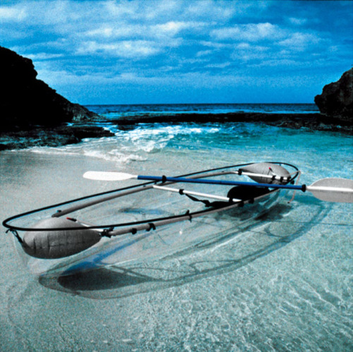 I want one of these. aerin:  TRANSPARENT CANOE KAYAK This is so cool.
