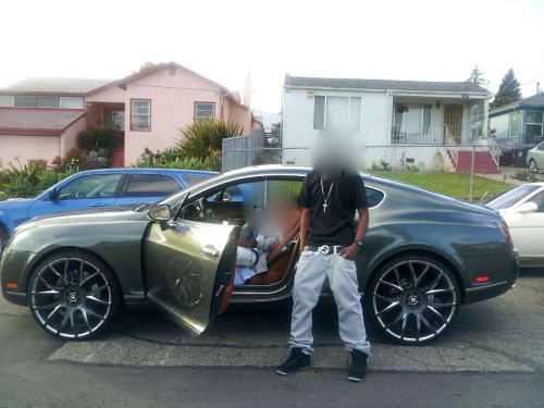 my cousin cell-bo 3 months out and came wakin 82 up with the bentley gt…Young N.igga C.hamps