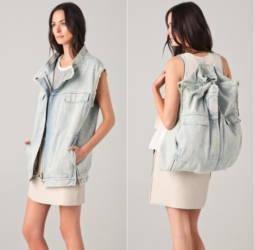 obliteratedheart:  A vest that converts into a backpack:  loving this 3.1 Phillip Lim item!
