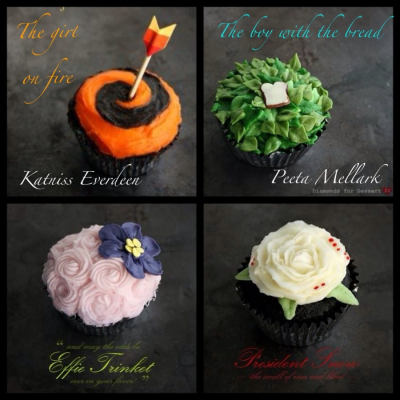 muscularswimmerarms:  HUNGER GAMES CUPCAKES? dude. im making these next.