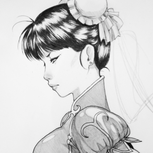 Chun Li Sketch of Chun Li from Street Fighter
