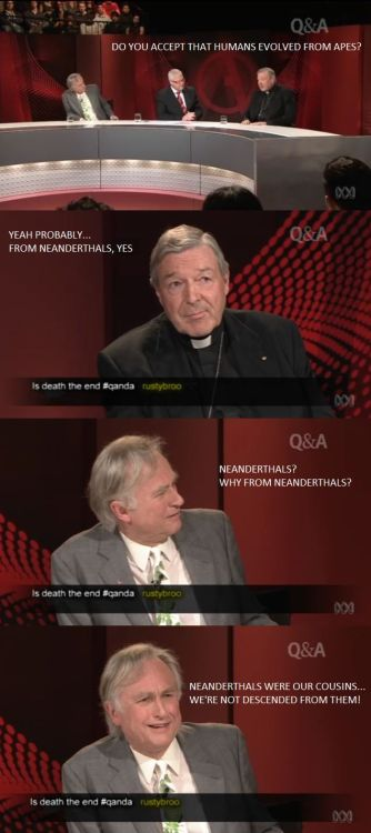 Just got done watching a video of this debate over on YouTube. George Pell ended up looking like a fool most of the debate in my opinion. Video available here for anyone that may be interested.