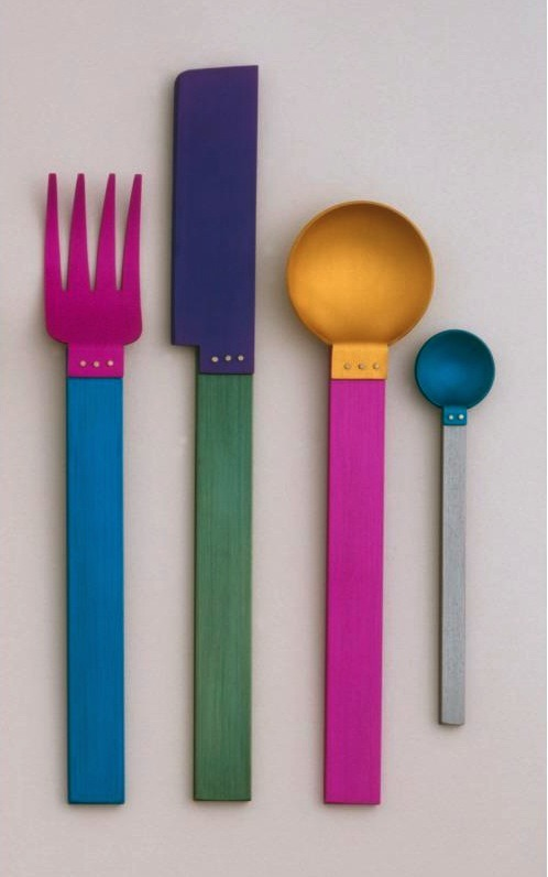 blaaargh:  David Tisdale, Picnic Flatware for Sasaki, 1986