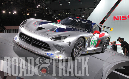 The 2013 SRT Viper GTS-R returns to the track to compete in the ALMS GT series this summer. (Source: Road & Track)