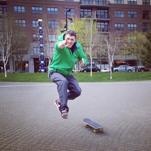 Look at @lordblakely jump! (Taken with Instagram at Jamison Square Park)