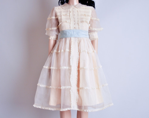 peter pan collar organza dress