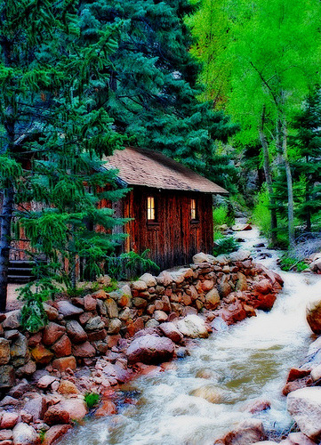 outdoorsanctuaries:  Colorado Cabin (by reddogphotoworks)
