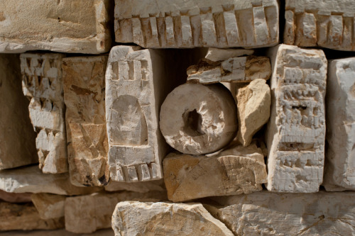 Patricia Sannit: Citadel - close up, 2011, found and reclaimed clays, slip and stain