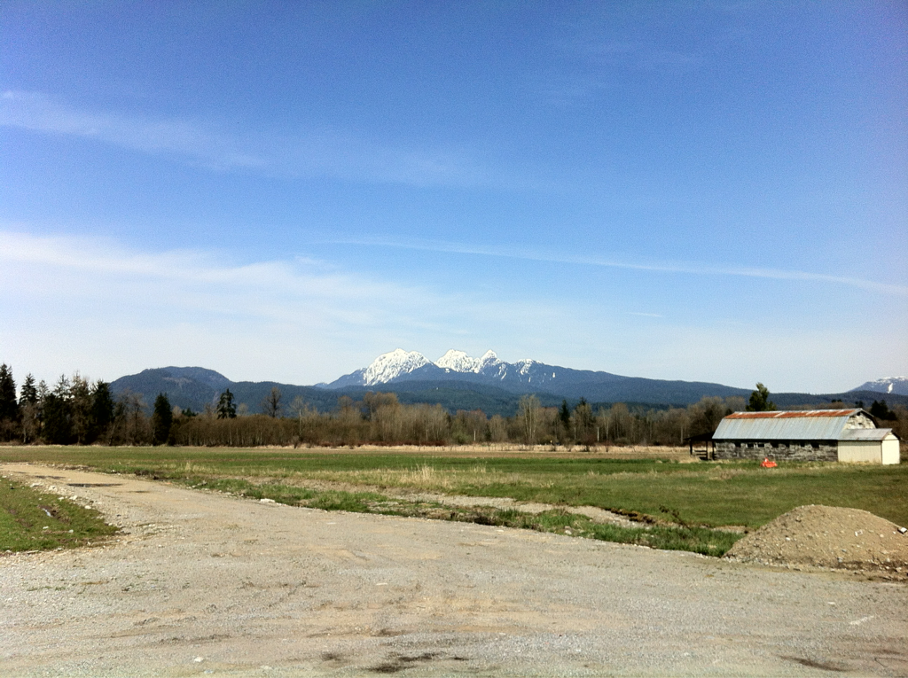 "- maple ridge, bc The ""Golden Ears"" on a bright sunny Monday"