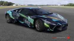 juve2040:  Sports car painted in Unicorn Gundam 02 Banshee scheme  The fact this exists! <3