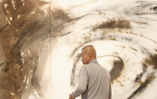 "Sky's the limit: Chinese artist Cai Guo-Qiang puts on a show for NOWNESS with his breathtaking ""fireworks"" paintings"