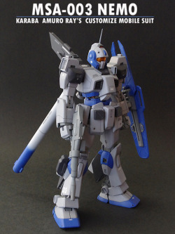 juve2040:  MG 1/100 MSA-003 Nemo 'Karaba Amuro Ray's Customize Mobile Suit'Modeled by Sannoji