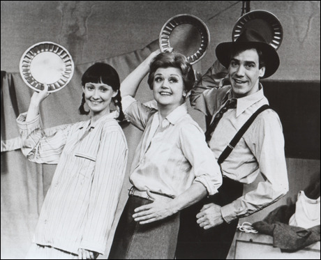 Zan Charisse, Angela Lansbury and Rex Robbins in Gypsy, 1974