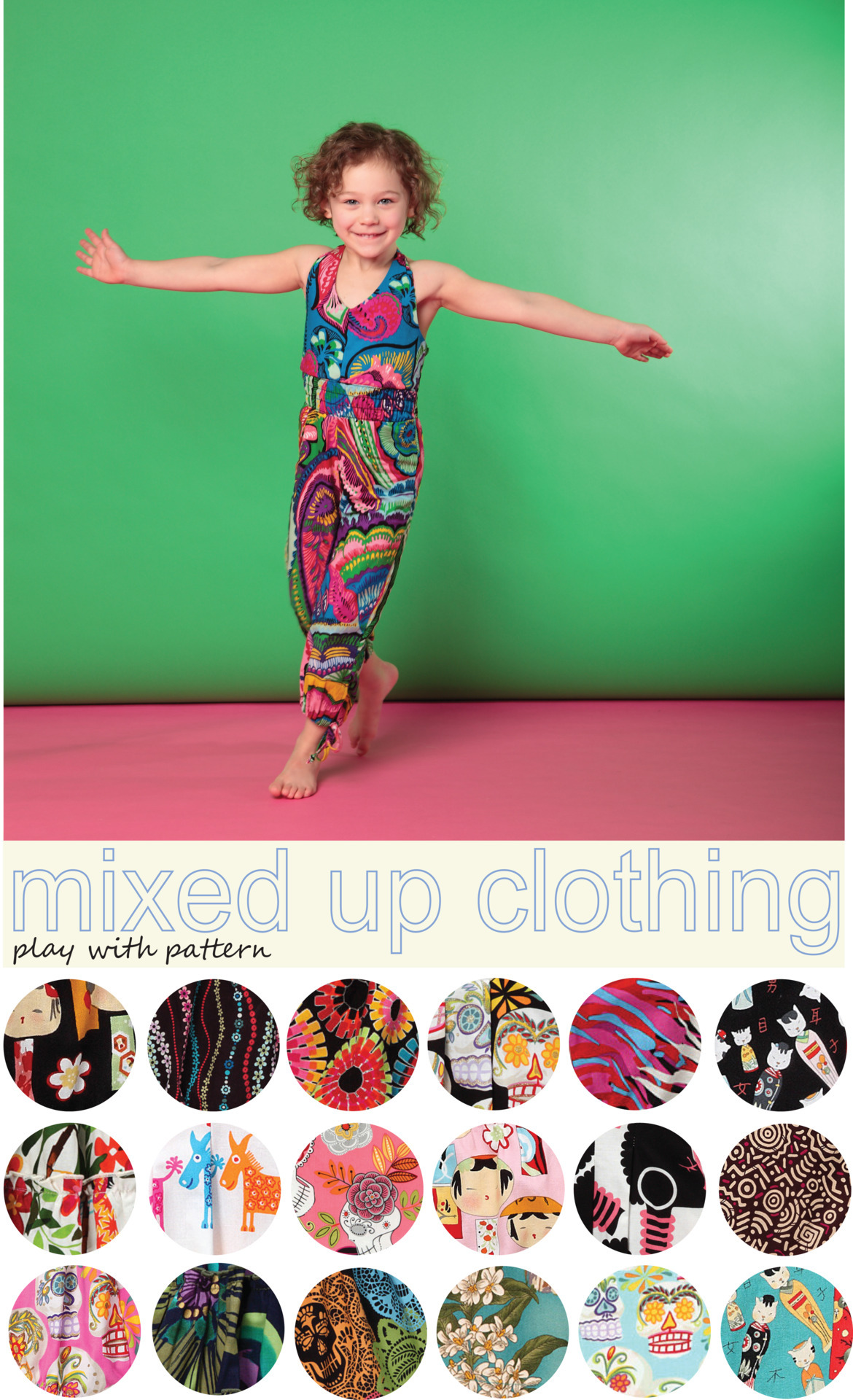 Mixed Up Clothing | Tomorrow on zulily Patterns, patterns, patterns! We are obsessed with kids who play with pattern.  Mixed Up Clothing is inspired by the textiles, cultures, and people of the world. A line dedicated to the power of diversity through trendy and colorful designs, your little fashionista can travel the world one romper, bubble bodysuit, or dress at a time.  Need a reminder for tomorrow's event? Check out the Mixed Up Clothing page now!