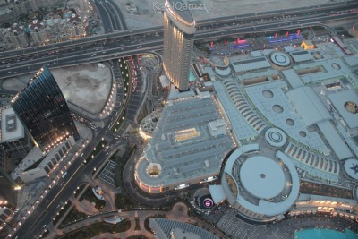 Dubai Mall Emaar Blvd Sunset