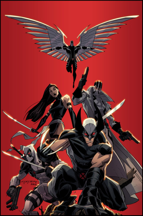 herochan:  X-Force Lines by - Khary Randolph Colors by - Emilio J. Lopez