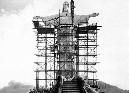 Vintage photos taken during the construction of Rio de Janeiro's famous Christ the Redeemer statue.