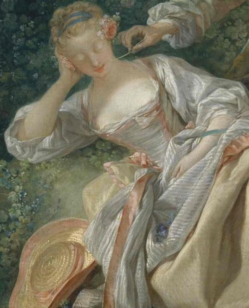 a-l-ancien-regime:  The interrupted sleep Francois Boucher: 1750 Style: Rococo Genre: pastorale
