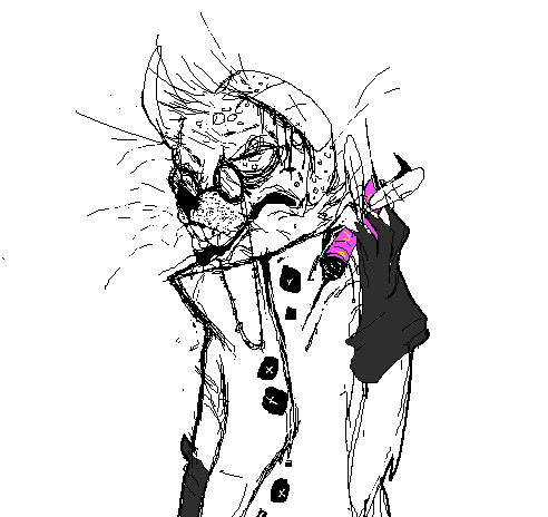 londoneyex:  evil rat with mozi needle… i wanna colour him but idk.  reblogging oc art yay