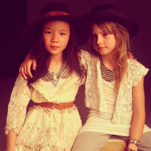 And some #dannijo kids… #behindthescenes #fw12  (Taken with instagram)