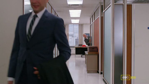 "quotemeboy:  Roger hates my boyfriend Pete Campbell. And I love him for it. I feel like those meme making enthusiasts should add Roger Pink Panthering into all sorts of inappropriate situations like those ""David Tennant where he shouldn't be"" ones.   Alright, internet, let's make Roger Pink Panthering a thing."