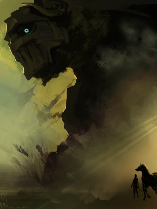 svalts:  Shadow Of The Colossus - by Lenqi  My favourite game of all time. Such an epic and beautiful experience.