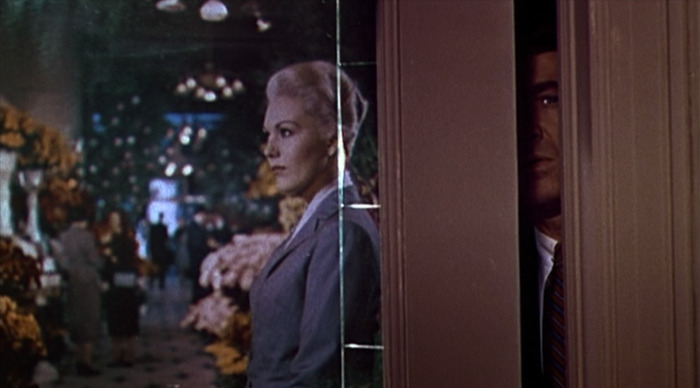 foreverfadeblack:  Vertigo (Alfred Hitchcock, 1958) Cinematography by Robert Burks, Art Direction by Henry Bumstead and Hal Pereira, Costume Design by Edith Head.