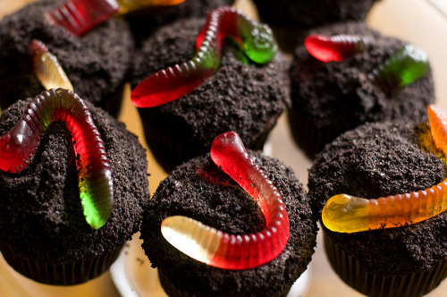 thecakebar:  Easy Dirt Cupcakes! (recipe)