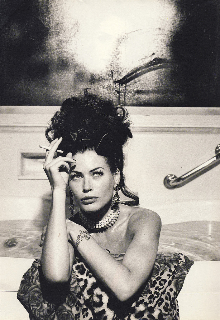 Carré Otis for Anna Molinari, Fall 1992 Photo by Helmut Newton