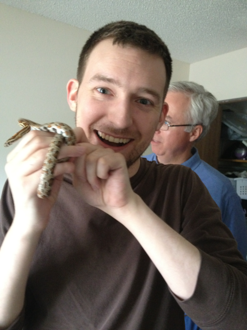 This weekend, I got to meet a snake!