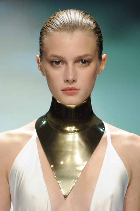 Photographer: GoRunway | Alexandre Vaulthier Runway Beauty S/S 2012 | View the full collection at vogue.it | High-res image