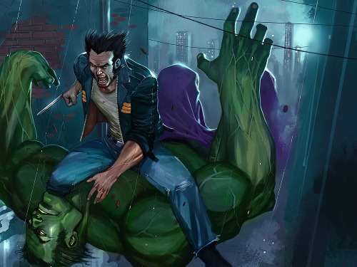 flymesomewhereoverthemoon:  Wolverine x Hulkby ~el-gallo