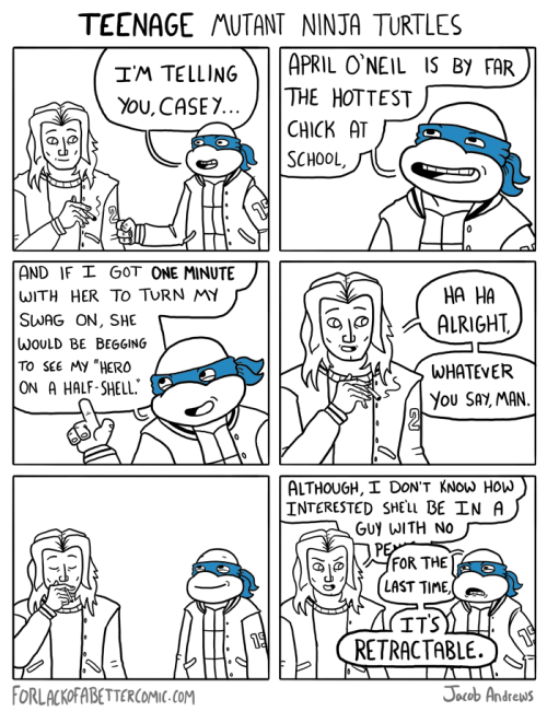 forlackofabettercomic:  If there's one thing I learned from making this comic, it's that turtle penises are absolutely horrifying.