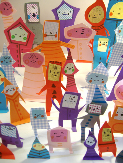 Paper People Crowd by Philippa Rice
