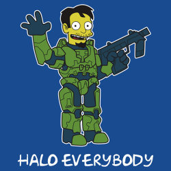 gamefreaksnz:  Halo Everyboy! by nikholmes USD$25.86 Doctor Chief Follow the artist on Tumblr
